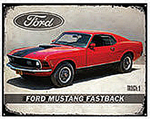 Ford Mustang Fastback steel sign (st)